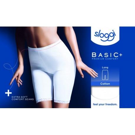 SLOGGI mutandina in cotone con gamba  BASIC LONG confezione 1 slip BIANCO