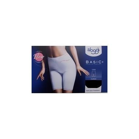 SLOGGI mutandina in cotone con gamba  BASIC LONG confezione 1 slip NERO