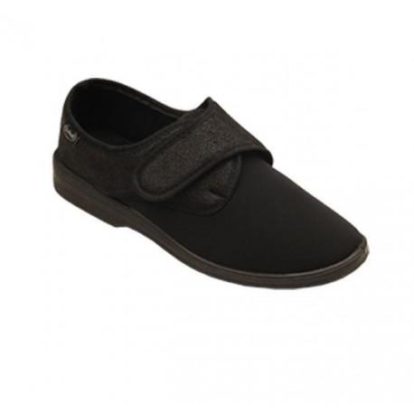 SCHOLL pantofola scarpa ALIDA NERO microfibra elasticizzata riabilitazione 1 velcro