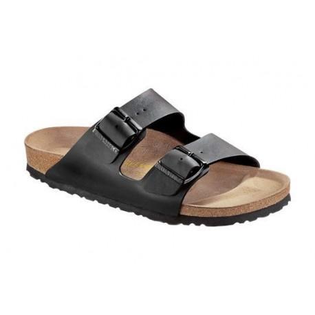 BIRKENSTOCK ciabatta sandalo 2 fasce ARIZONA 051793 fibbie Birko Flor BLACK NERO