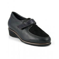 MEDIMA scarpe invernali donna MALVINA 3S042 NERO pelle nappa e camoscio strappo