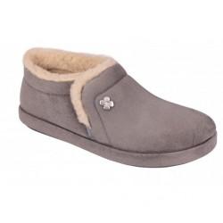 Dr SCHOLL pantofola calda scarpa microfibra pelo CHEIA GRIGIO plantare Memory