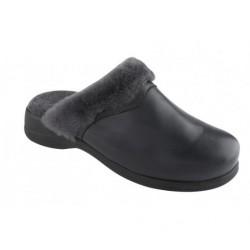 Dr SCHOLL pantofola calda pelo montone NEW WARMLINE pelle BLU plantare memory