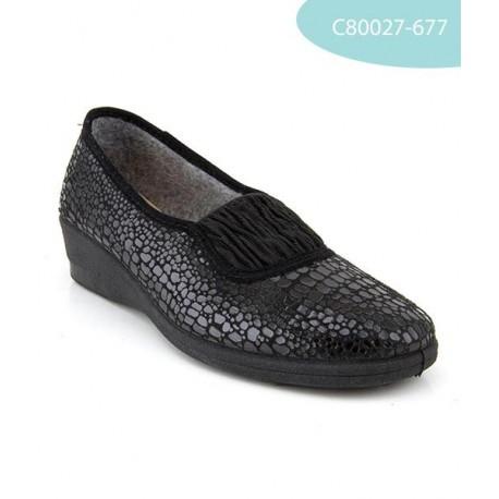 MEDIMA scarpe pantofole invernali feltro FLEX GUCCIA elasticizzate NERO
