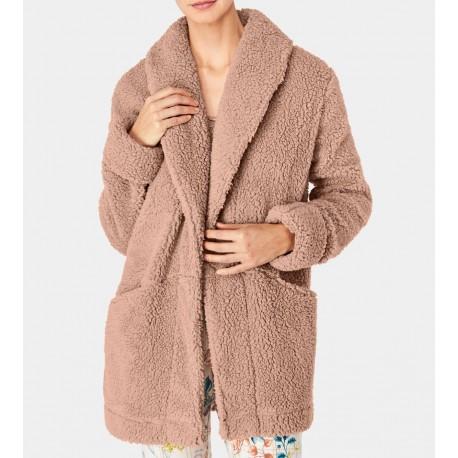 TRIUMPH vestaglia ampia giacca invernale corta sciallata MIX&MATCH peluche BEIGE