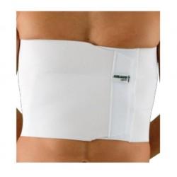 Dr.GIBAUD cintura fascia ortopedica TORACICA 3 BANDE 0126 H.24cm chiusura strappo BIANCO