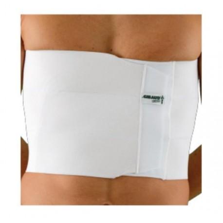 Dr.GIBAUD cintura TORACICA REGOLABILE 3 BANDE 0126 H.24cm chiusura velcro bianca