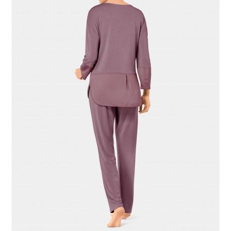 TRIUMPH pigiama MODERN FLAIR 10190389 morbido jersey di bambù ROSATO