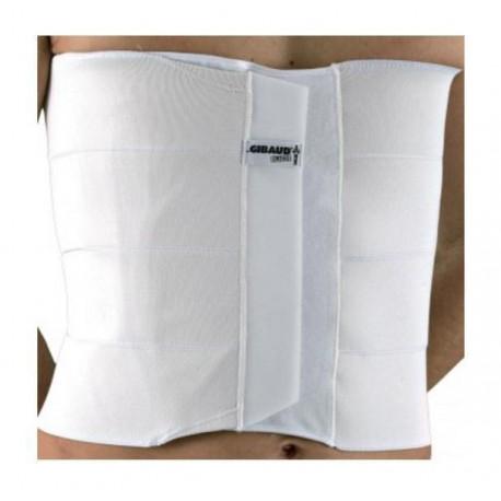Dr.GIBAUD cintura fascia ortopedica TORACICA 4 BANDE 0111 H.32cm chiusura strappo BIANCO