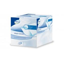 TENA WASH GLOVE salvietta guanto monouso detergente 50 pezzi morbido assorbente e resistente pratico
