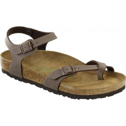BIRKENSTOCK sandali TAORMINA 310121 Birko Flor cinturino attorno alluce MOCCA nubuk
