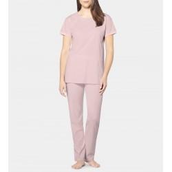 TRIUMPH pigiama mezza manica PIMA COTTON pregiato cotone ROSA bordi raso 10194938