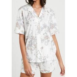 TRIUMPH pigiama mezza manica pantalone corto SETS BOYFRIEND cotone modal FANTASIA BIANCO 10194976
