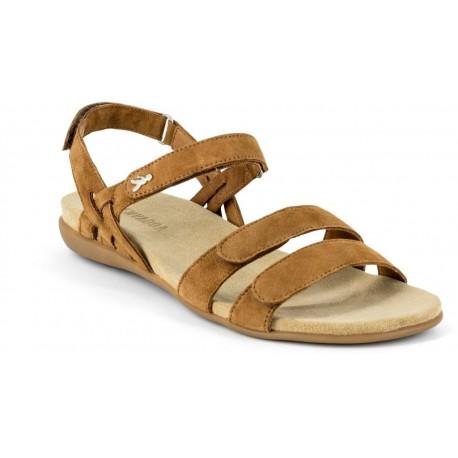 BENVADO sandalo camoscio ALICIA CUOIO con strappo plantare morbido pelle capra