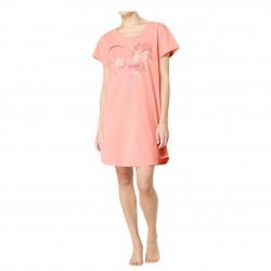 TRIUMPH abitino mezza manica camicia notte NIGHTDRESSES cotone CORALLO FANTASIA 10186863