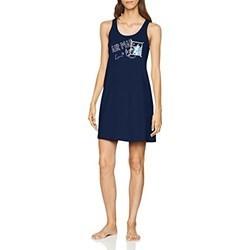 TRIUMPH abitino smanicato camicia notte NIGHTDRESSES cotone BLU FANTASIA 10186861