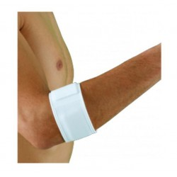 Dr.GIBAUD bracciale TENNIS ELBOW cod. 0312 altezza 6cm bianco taglia unica