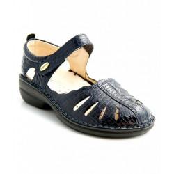 MEDIMA scarpe estive decolte TECNOSAN TINA 50353 plantare estraibile VERNICE BLU 1 strappo