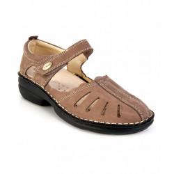 MEDIMA scarpe estive decolte TECNOSAN TINA 50353 plantare estraibile TAUPE NABUK 1 strappo