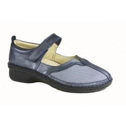 LOREN scarpe estive sandali decolte M2780 plantare estraibile BLU PERLATO/STRECH