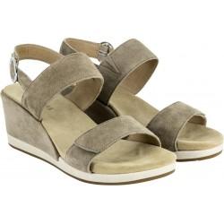 BENVADO sandalo camoscio NATASHA STONE zeppa decollete elastico plantare pelle