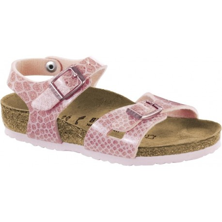 BIRKENSTOCK KIDS sandali bambina RIO Birko Flor MAGIC SHAKE ROSE cinturini 1008280