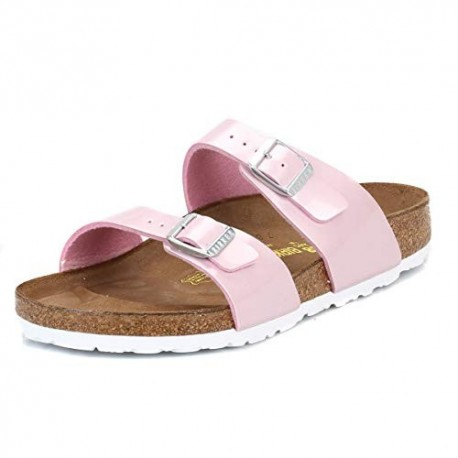 BIRKENSTOCK ciabatta sandalo 2 cinturini  Birko Flor SYDNEY 488161 PEARLY ROSE vernice