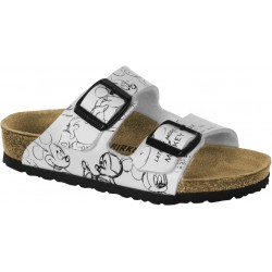 BIRKENSTOCK ciabatta sandalo 2 cinturini ARIZONA 1010473 Birko Flor Black and White Mickey Heritage