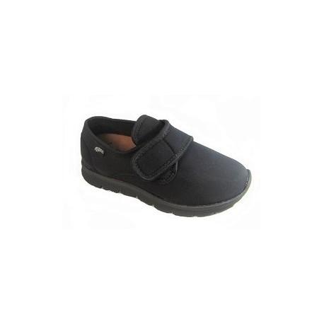 PLANTAS scarpe elastiche riabilitative DEVIN NERO antiscivolo chiusura 1 strappo