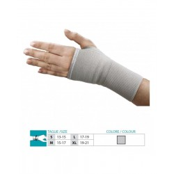 ORIONE POLSIERA manopola a guanto senza dita in tessuto elastico art.210 GRIGIO