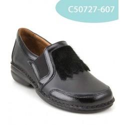 MEDIMA scarpe elastiche TECNOSAN WOODS 50727 mocassini plantare estraibile NERO