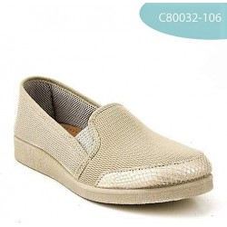 MEDIMA scarpe elasticizzate FLEX GINA pantofole mocassini tessuto elastico BEIGE