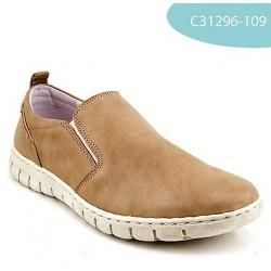 MEDIMA scarpe slip on mocassini pelle CALLA 31296 inserti elastici BEIGE plantare