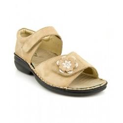 MEDIMA scarpe punta aperta sandali TECNOSAN ALGERIA 50597 plantare estraibile 2 strappi CAPPUCCINO NABUK