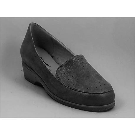 MEDIMA scarpe ampie traforate MARSALA 30797 BLU mocassini pelle nappa forma larga