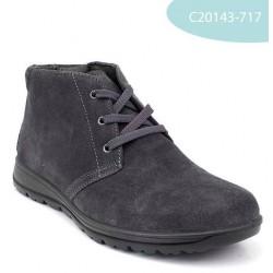 MEDIMA polacchini scarpe alte uomo pelle lacci BACCO 20143 GRIGIO camoscio plantare