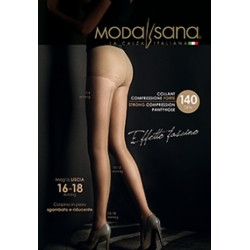 MODASANA SANAGENS calze elastiche 140 DEN COLLANT maglia liscia NERO MALICE