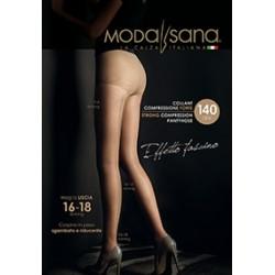 MODASANA SANAGENS calze elastiche 140 DEN COLLANT maglia liscia VISONE MALICE