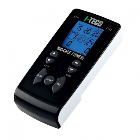 I-TECH Elettrostimolatore 2 canali MIO-CARE FITNESS 55 programmi TENS/EMS 10003