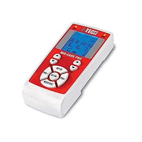 I-TECH Elettrostimolatore 2canali MIO-CARE PRO 50prog.TENS/NEMS/BEAUTY 13memorie