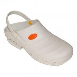 SANAGENS zoccolo professionale lavoro STUDIUM BIANCO scarpa gomma cinturino soletta estraibile