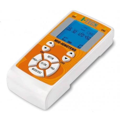 I-TECH Elettrostimolatore 2canali MIO-IONOTENS 37prog TENS/NEMS/IONOFORESI 13mem