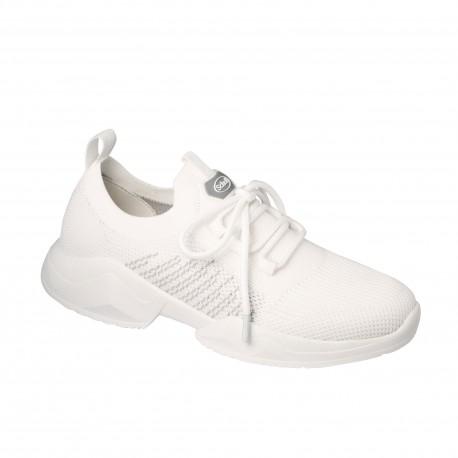 SCHOLL scarpa sportiva leggera sneaker FREEDOM LACES tessuto BIANCO plantare Memory