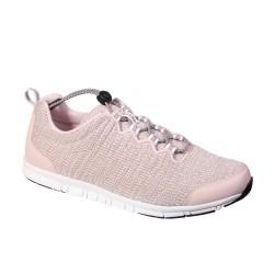 SCHOLL scarpa sportiva leggera sneaker WIND STEP tessuto ROSA / GRIGIO plantare Memory