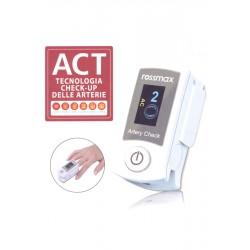 ROSSMAX SB200 PULSOSSIMETRO da DITO ossigenazione pulsazioni con ACT arterie Check-Up