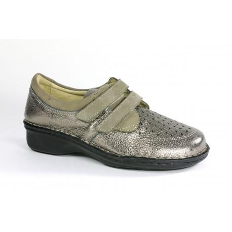 LOREN scarpe donna estiva plantare estraibile M2638 pelle di cervo/nabuk PELTRO 2 strappi