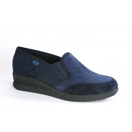 LOREN scarpe riabilitative S8575 mocassini tessuto elasticizzato BLU madeinItaly