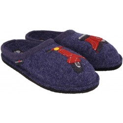 HAFLINGER pantofole FLAIR ROLLER JEANS 313067 lana cotta fondo feltro antiscivolo