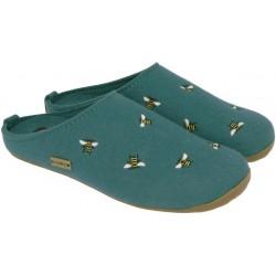 HAFLINGER pantofole unisex FUNDUS API TURKIS 48401693 feltro lana cotta TURCHESE