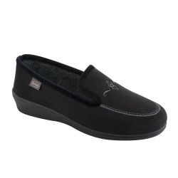 SCHOLL pantofola calda scarpa feltro lana TIGUANA NERO plantare memory